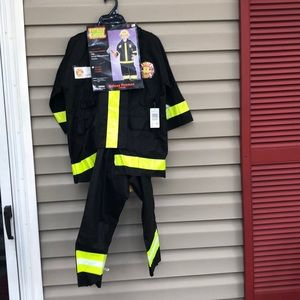NWT Totally Ghoul boy's deluxe fireman costume